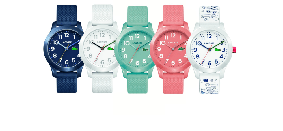 uroczy najlepsze oferty na przystępna cena Pierwsza kolekcja zegarków dla dzieci marki Lacoste ...