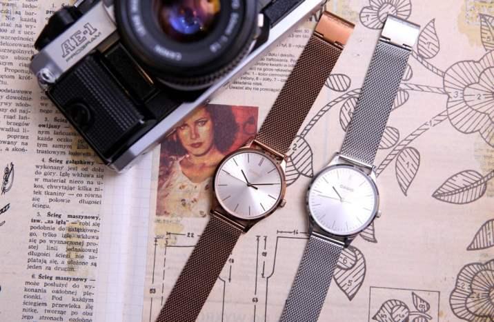 zegarek damski casio retro vintage milanese band