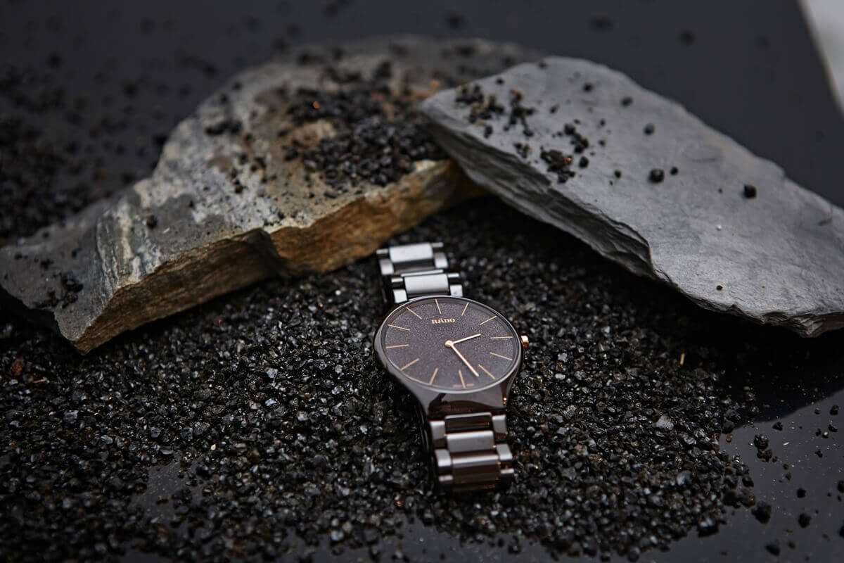 Koperta zegarka marki RADO wykonana z ceramiki